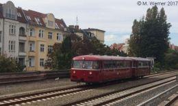 BEF-Schienenbusgarnitur auf dem Berliner Innenring 2017