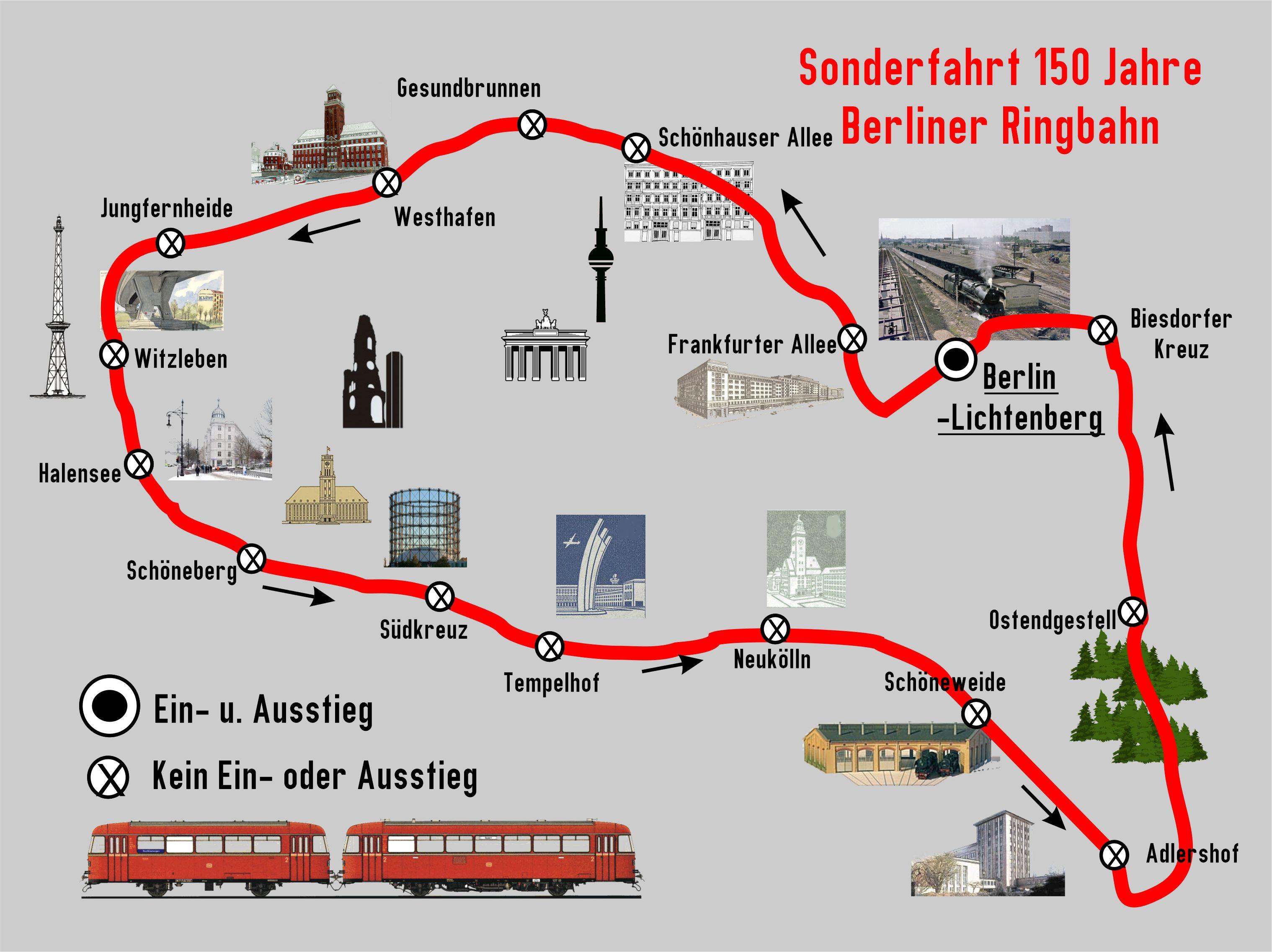 BEF Streckenkarte Ringbahnfahrt VT 2021